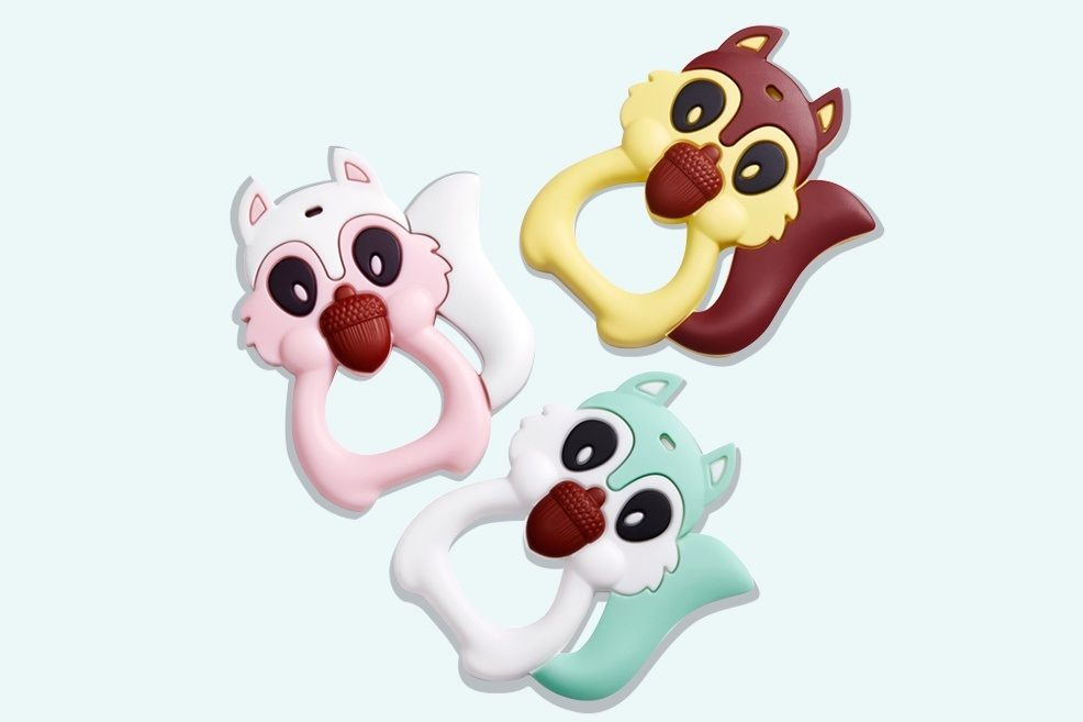 squirrel baby teething toys